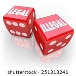 legal and illegal words on two... | Shutterstock . vector #251313241