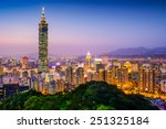 Taipei  Taiwan City Skyline At...