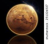 Mars Isolated Elements Nasa - Fine Art prints