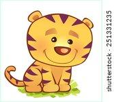 tiger | Shutterstock .eps vector #251331235
