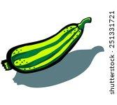 cute vector cartoon zucchini | Shutterstock .eps vector #251331721