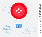 hot air balloon made of big red ... | Shutterstock . vector #251334469