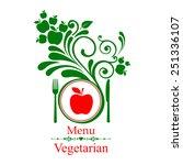 vegetarian menu. design... | Shutterstock .eps vector #251336107