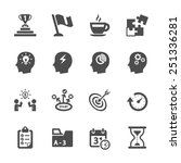 business productivity icon set  ... | Shutterstock .eps vector #251336281