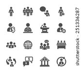 business people icon set ... | Shutterstock .eps vector #251336287