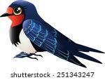 bird swallow in profile | Shutterstock .eps vector #251343247
