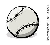 baseball with clipping path. a... | Shutterstock .eps vector #251351221