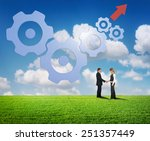 business teamwork concept | Shutterstock . vector #251357449
