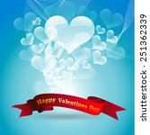 bubbles heart valentine's day... | Shutterstock . vector #251362339