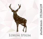 vector deer animal symbol.... | Shutterstock .eps vector #251364139