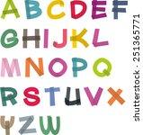 vector abstract alphabet of... | Shutterstock .eps vector #251365771
