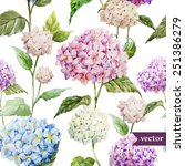 Hydrangea  Pattern  Watercolor