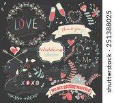 wedding romantic collection... | Shutterstock . vector #251388025
