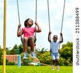 action portrait of african kids ...   Shutterstock . vector #251388499