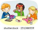 Illustration Of Kids Making...