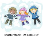 Illustration Of Kids In Winter...