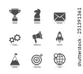 start up icons with reflection | Shutterstock .eps vector #251391361