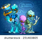 alien invaders | Shutterstock .eps vector #251403805