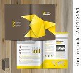 brown brochure template design... | Shutterstock .eps vector #251413591