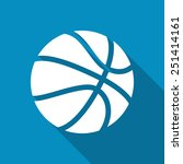 basketball icon. modern design... | Shutterstock .eps vector #251414161