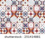 tile seamless pattern.... | Shutterstock . vector #251414881