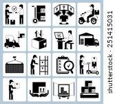 warehouse management icons set  ... | Shutterstock .eps vector #251415031
