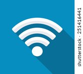 wifi sign. wi fi symbol.... | Shutterstock .eps vector #251416441
