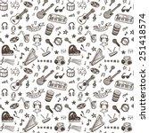 hand drawn musical instruments... | Shutterstock .eps vector #251418574