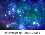 Night sky with stars - blue stars background - stock photo