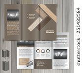 brown brochure template design... | Shutterstock .eps vector #251432584