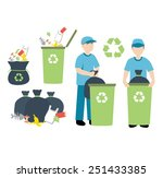recycling trash | Shutterstock .eps vector #251433385