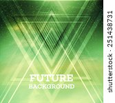 abstract triangle future vector ... | Shutterstock .eps vector #251438731
