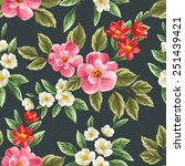 floral seamless pattern with... | Shutterstock .eps vector #251439421