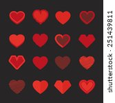 different abstract heart icons... | Shutterstock .eps vector #251439811