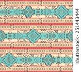 tribal vintage ethnic seamless... | Shutterstock .eps vector #251443444