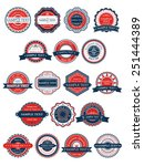 circular retro badges or labels ... | Shutterstock .eps vector #251444389