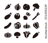 vegetable icons   vector... | Shutterstock .eps vector #251450239