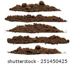 Set Pile Of Soil Isolated On...
