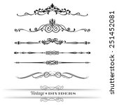 vintage dividers for documents  ... | Shutterstock .eps vector #251452081
