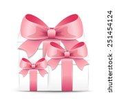 valentine gift boxes | Shutterstock .eps vector #251454124