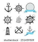 illustration of set marine...   Shutterstock . vector #251459509