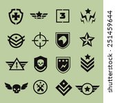 military symbol army icons ... | Shutterstock . vector #251459644