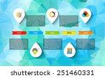 infographic timeline design ... | Shutterstock .eps vector #251460331