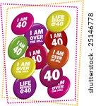 "40 ""40th"" birthday party vector ... | Shutterstock .eps vector #25146778"