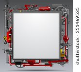industrial design template with ... | Shutterstock . vector #251469535