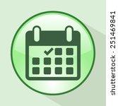 calendar flat icon   vector   Shutterstock .eps vector #251469841