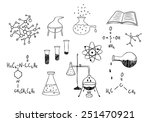 science and chemistry set | Shutterstock . vector #251470921
