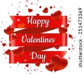 valentines day retro poster...   Shutterstock .eps vector #251473369
