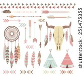 tribal indian elements | Shutterstock .eps vector #251475355
