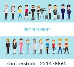 people in different occupation... | Shutterstock .eps vector #251478865